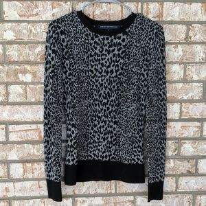 French Connection Leopard Cheetah Print Sweater S